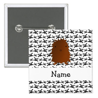 Personalized name bigfoot skulls pattern 2 inch square button