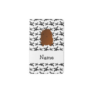 Personalized name bigfoot skulls pattern pocket moleskine notebook cover with notebook