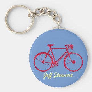 personalized name bike basic round button keychain