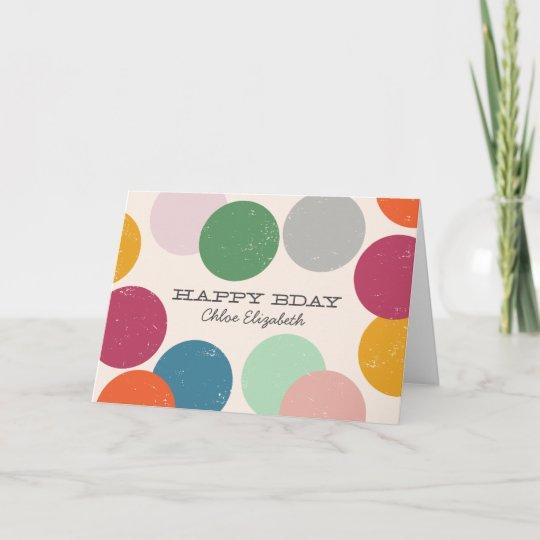 personalized name  birthday confetti card  zazzle