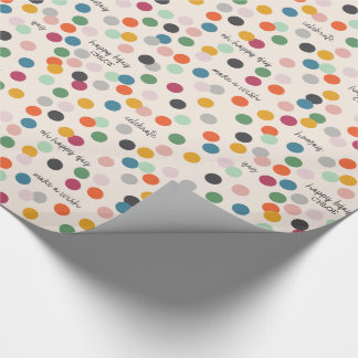 Personalized Name | Birthday Confetti Wrapping Paper