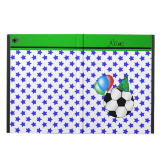 Personalized name birthday soccer blue stars powis iPad air 2 case