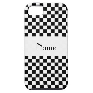 Personalized name Black and white checkers iPhone SE/5/5s Case