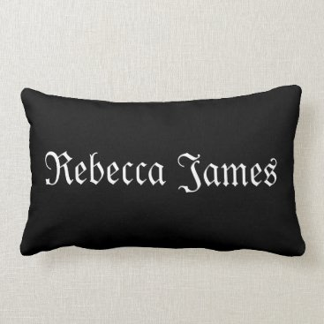 Personalized Name Black and White Pillow