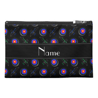 Personalized name black archery travel accessory bag