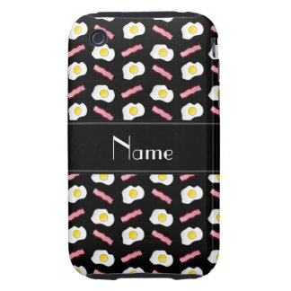 Personalized name black bacon eggs tough iPhone 3 covers