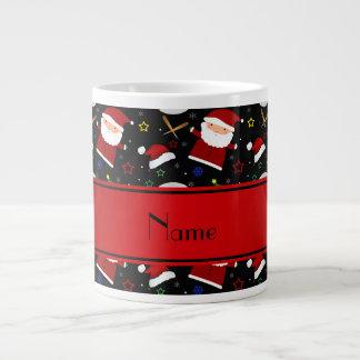 Personalized name black baseball christmas 20 oz large ceramic coffee mug