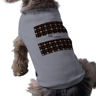 Personalized name black baseball pattern pet clothing