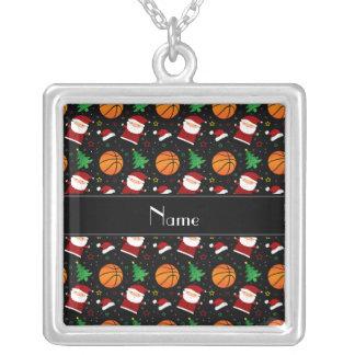 Personalized name black basketball christmas custom jewelry