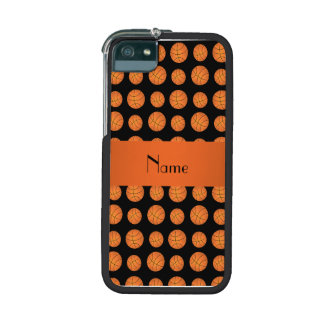 Personalized name black basketballs iPhone 5/5S covers
