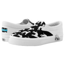 Personalized name black bedlington terrier dogs Slip-On sneakers