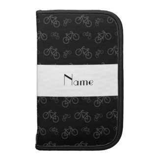 Personalized name black bicycle pattern organizers