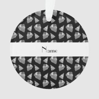 Personalized name black birthday pattern