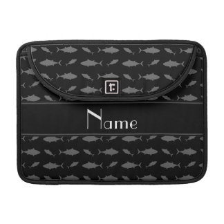 Personalized name black bluefin tuna pattern MacBook pro sleeve