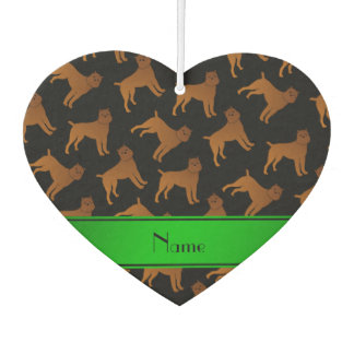 Personalized name black brussels griffon dogs air freshener