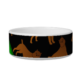 Personalized name black brussels griffon dogs bowl