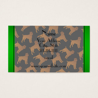 Personalized name black brussels griffon dogs business card
