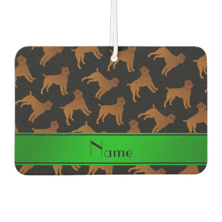Personalized name black brussels griffon dogs car air freshener