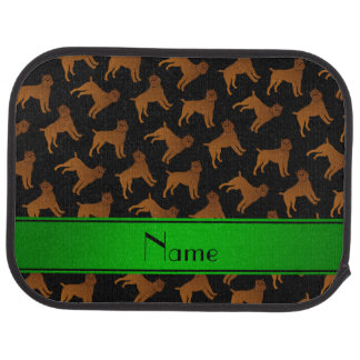 Personalized name black brussels griffon dogs car floor mat