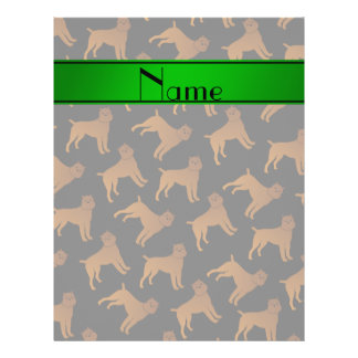 Personalized name black brussels griffon dogs flyer