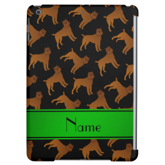 Personalized name black brussels griffon dogs iPad air covers