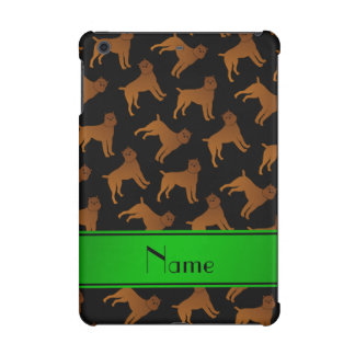 Personalized name black brussels griffon dogs iPad mini retina case