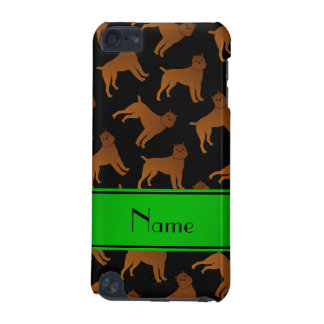 Personalized name black brussels griffon dogs iPod touch 5G cover