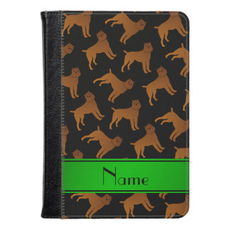 Personalized name black brussels griffon dogs kindle case