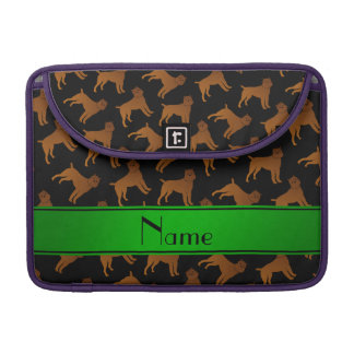 Personalized name black brussels griffon dogs MacBook pro sleeve