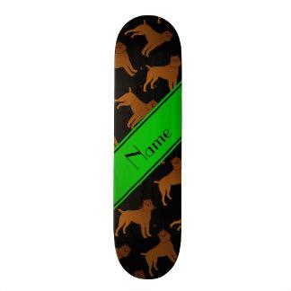 Personalized name black brussels griffon dogs skateboard deck