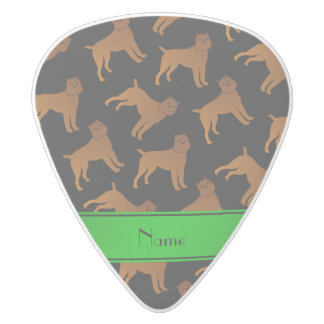 Personalized name black brussels griffon dogs white delrin guitar pick