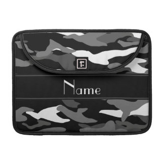 Personalized name black camouflage black stripe sleeve for MacBooks