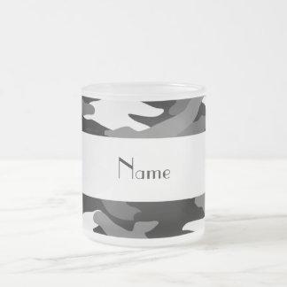 Personalized name black camouflage mug