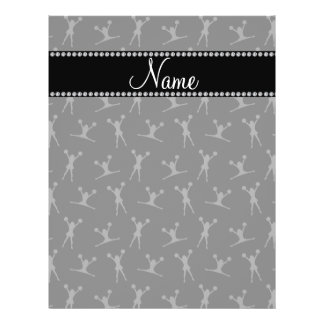 Personalized name black cheerleader pattern personalized flyer