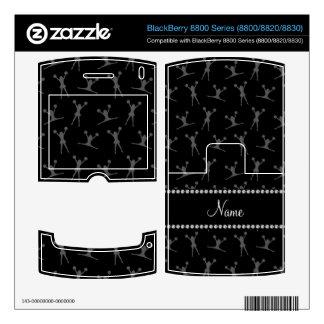 Personalized name black cheerleader pattern BlackBerry 8820 decal