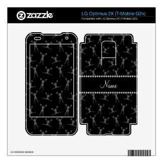 Personalized name black cheerleader pattern decals for LG optimus 2X