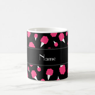 Personalized name black cotton candy coffee mug