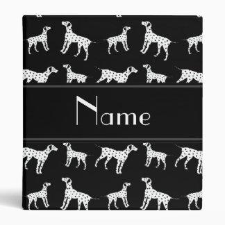 Personalized name black dalmatian dogs binder