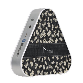 Personalized name black dominos bluetooth speaker