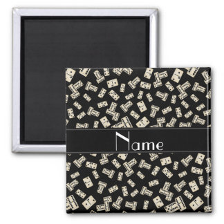 Personalized name black dominos magnet