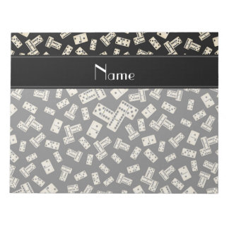 Personalized name black dominos memo notepads