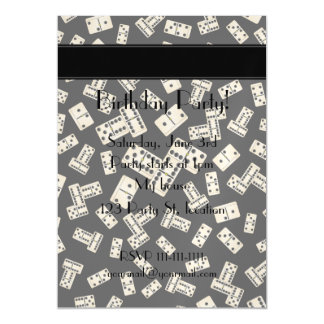 Personalized name black dominos magnetic invitations