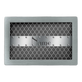 Personalized name black dragon scales belt buckle