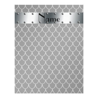 """Personalized name black dragon scales 8.5"""" x 11"""" flyer"""