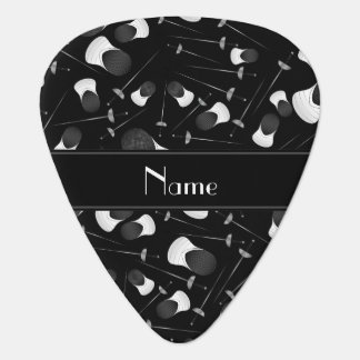 Personalized name black fencing pattern pick