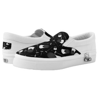 Personalized name black fencing pattern Slip-On sneakers