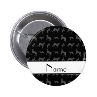 Personalized name black Giant Schnauzer dogs 2 Inch Round Button