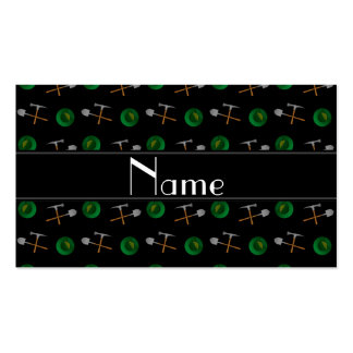 Personalized name black gold mining Double-Sided standard business cards (Pack of 100)