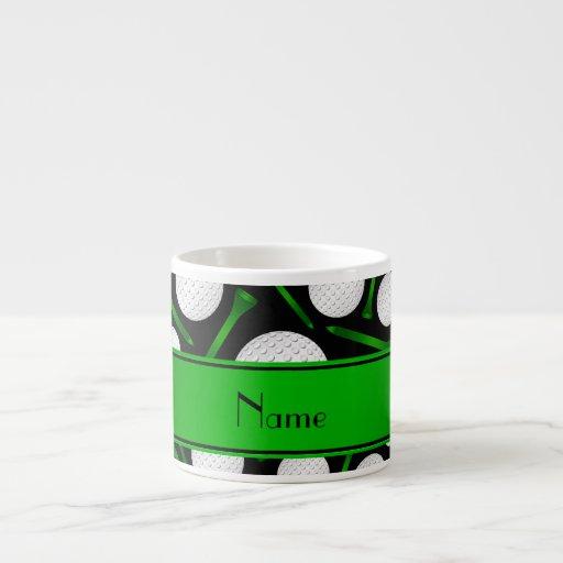 Personalized Name Black Golf Balls Tees 6 Oz Ceramic Espresso Cup Zazzle