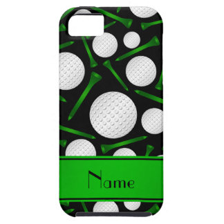 Personalized name black golf balls tees case for iPhone 5/5S